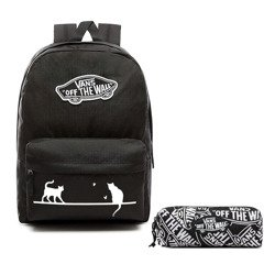 VANS Realm Backpack | VN0A3UI6BLK - Custom Cats