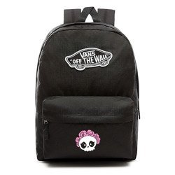 VANS Realm Backpack | VN0A3UI6BLK - Custom Cute Skull