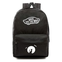 VANS Realm Backpack | VN0A3UI6BLK - Custom Halloween Cat