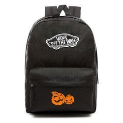 VANS Realm Backpack | VN0A3UI6BLK - Custom Halloween Pumpkins