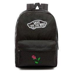 VANS Realm Backpack | VN0A3UI6BLK - Custom Pink Rose