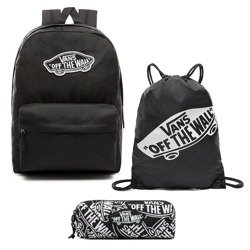 VANS Realm Backpack | VN0A3UI6BLK + Pancil Pouch + Bag