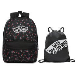 Vans Realm Beauty Floral Black Backpack - VN0A3UI6ZX3 + Benched Bag