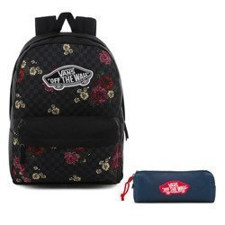 Vans Realm Botanical Check Backpack - VN0A3UI6UWX + Pencil Pouch