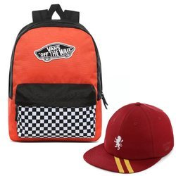 Vans Realm Paprika-Checkerboard VN0A3UI6ZKF + Court Side Printed Hat