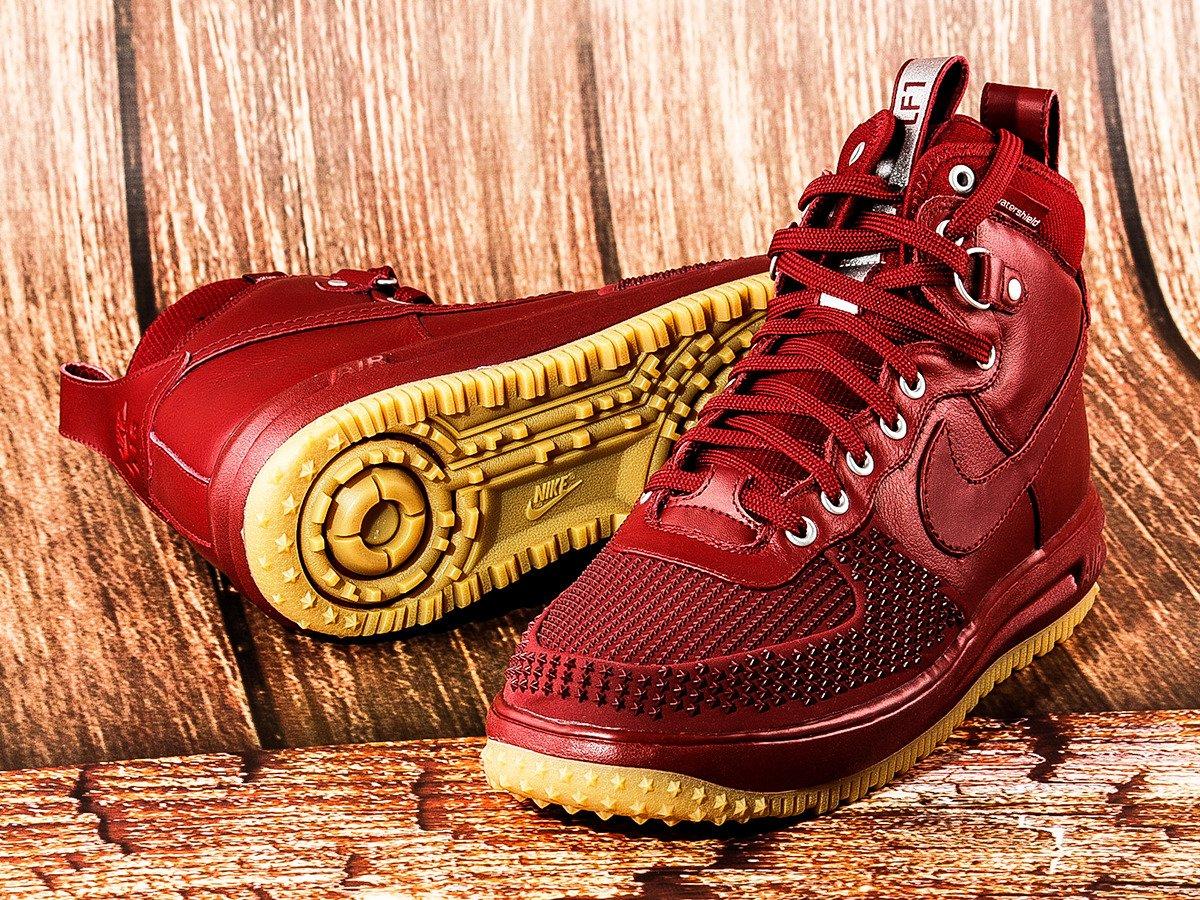 Nike Lunar Force 1 Duckboot Shoes - 805899-600 Czerwony ... ce251894f8