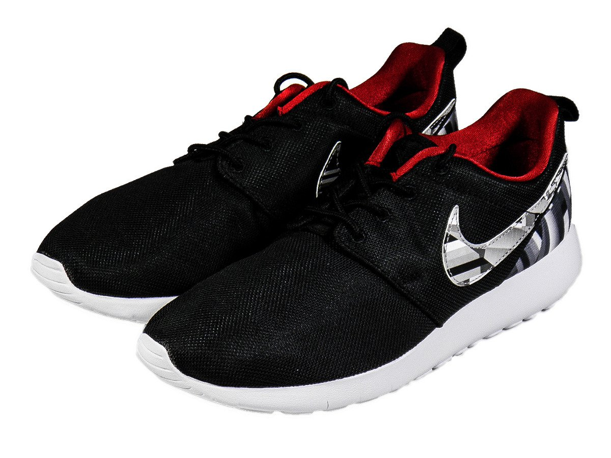 reputable site e8e5a dc403 Nike Roshe One Print Wolf Grey/Black Shoes - 677782-012 ...