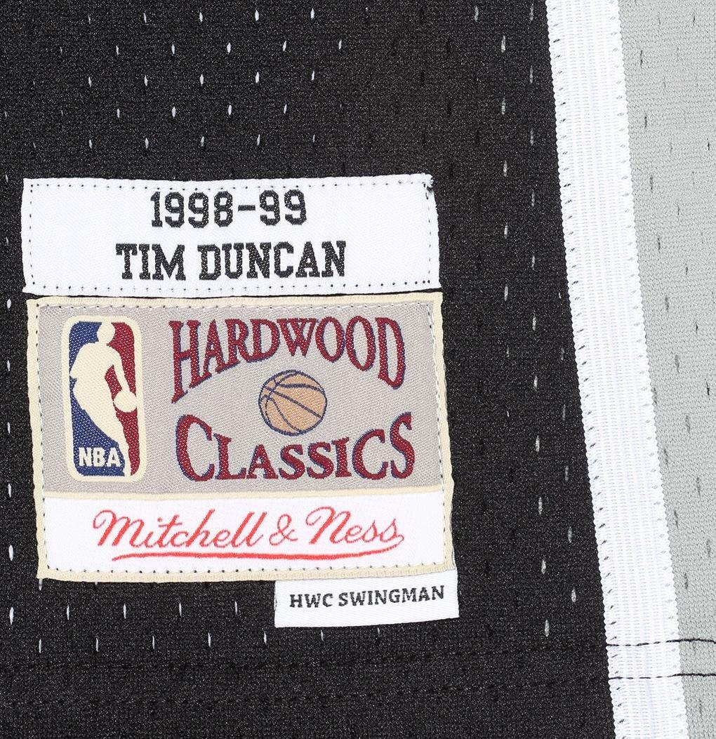 2c1bab086 ... Mitchell   Ness NBA San Antonio Spurs Tim Duncan 1998-99 Swingman Jersey  ...