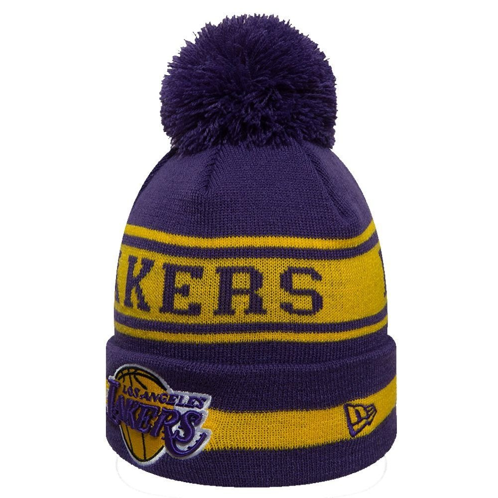 d66cbfcf876 New Era NBA Los Angeles Lakers Team Bobble Cuff Knitt Winter Hat - 11794603