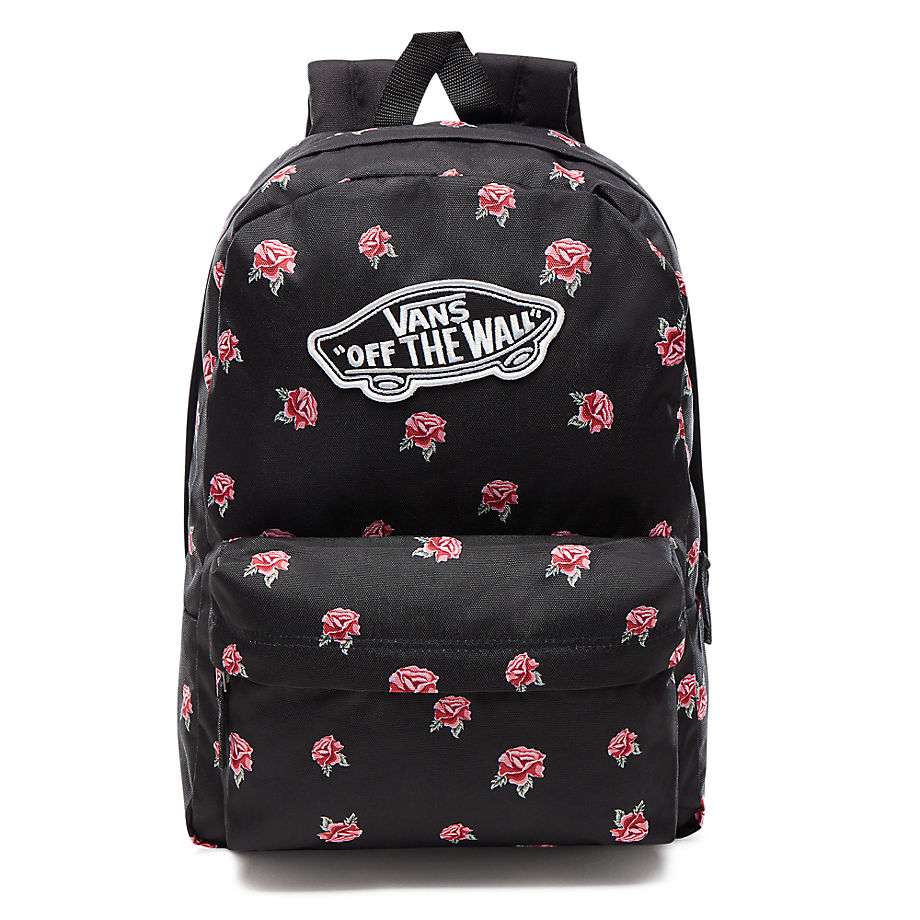 aeb8676162d VANS Realm Black   Rose Backpack - BLACK VN0A3UI6RDU VN0A3UI6RDU ...