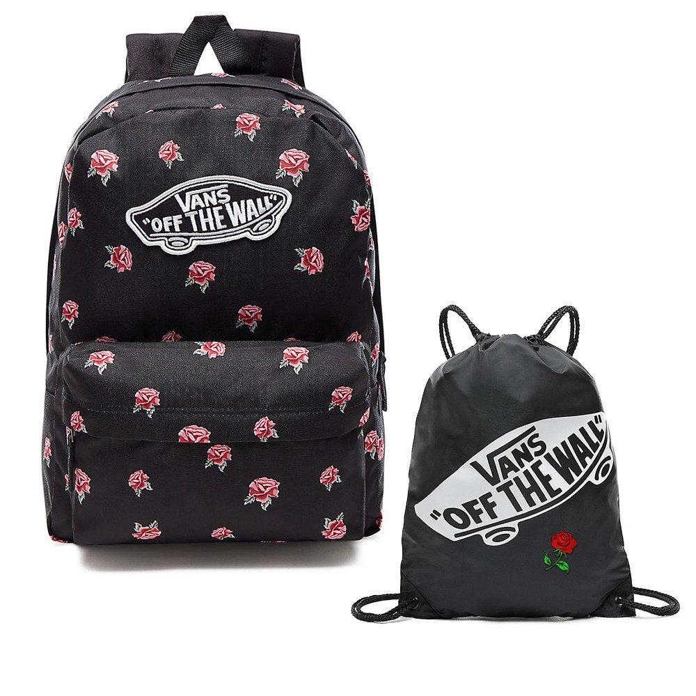 VANS Realm Black \u0026 Rose Backpack