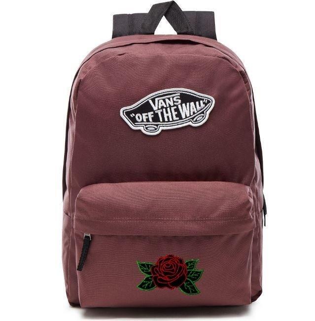 bba73cbab3 VANS Realm - Catawba Grape Backpack Custom Black Rose - VN0A3UI6ALI ...