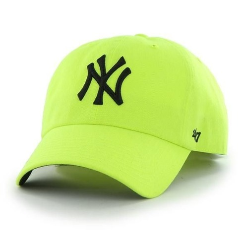 47 Brand NY Yankees Clean Up Neon Yellow Strapack - B-CNEON17PTS-NW