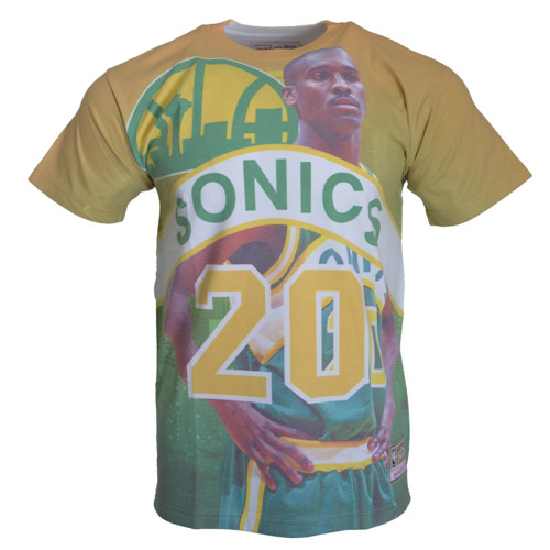 City Pride M&N Tee Seattle SuperSonics Gary Payton T-shirt - BMTRKT18007-SSUKYGNGPA