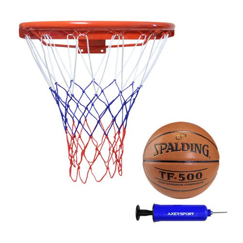 Kimet Super Basketball Rim 45cm + Spalding TF-500 + pump