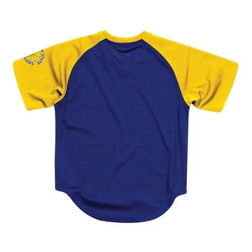 Mitchell & Ness Final Seconds Mesh V-Neck Golden State Warriors T-Shirt