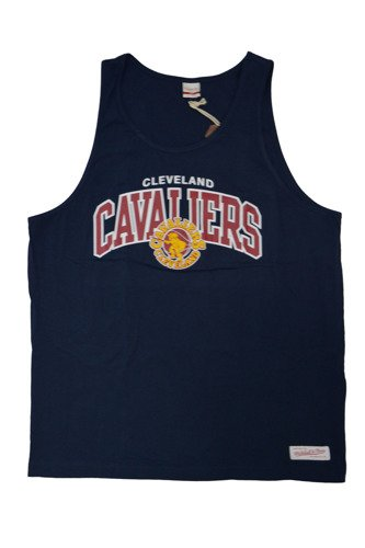 Mitchell & Ness NBA Cleveland Cavaliers Team Arch Tank Top - TEAMARCHTANK-CLECAV-NVY