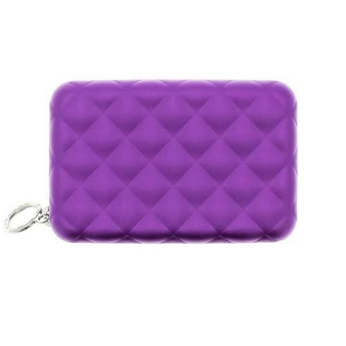 Ogon Designs Quilted Zipper Purple RFID protect