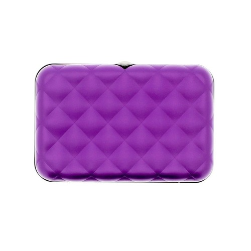 Ogon Designs Wallet Quilted Button Purple RFID protect