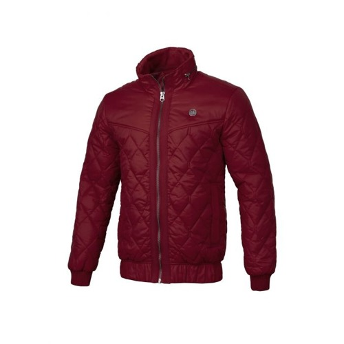 Pit Bull West Coast Quilted Jacket Sunset Burgundy