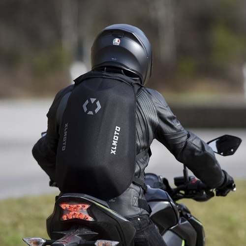 Slipstream motorcycle Backpack, Water-resistant - Custom Card Skull