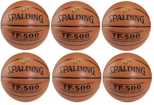 Spalding Basketball NBA TF - 500 Basketball x6 - 3001503010