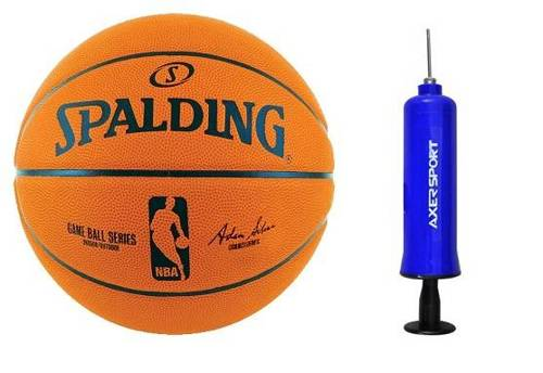 Spalding NBA Game Ball Replica + Axer Sport pump