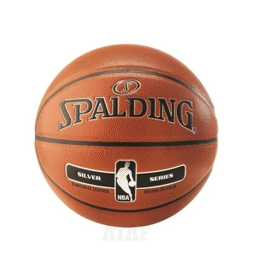 Spalding NBA Silver Basketball Indoor/Outdoor + Nike Essential Dual Action Ball Pump