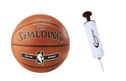 Spalding NBA Silver Basketball Indoor/Outdoor + Pump