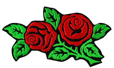 Thermal Patch Red Roses