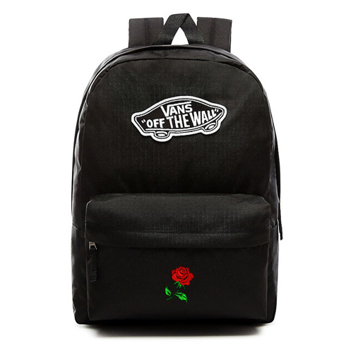 VANS Realm Backpack Custom Red Rose - VN0A3UI6BLK
