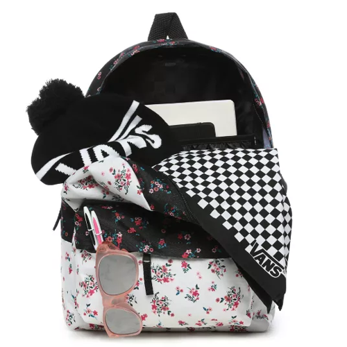 Vans Realm Classic Beauty Floral Patchwork Backpack + Pancil Pouch