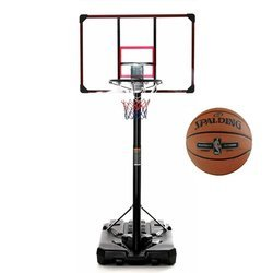 Basketball-Set DELUX 305 cm + Spalding NBA Platinum Streetball