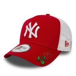 New Era MLB New York Yankees Clean A Frame Trucker Kappe Custom Rose - 11588488