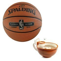 Spalding NBA Platinum Streetball Outdoor + MAX'IS Creations Becher - Basketball The Mug With A Hoop