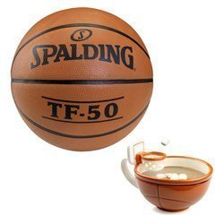 Spalding TF-50 Basketball + MAX'IS Creations Becher - Basketball The Mug With A Hoop