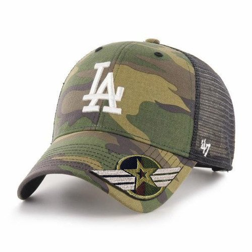 47 Brand MLB LA Dodgers Trucker Custom Army -  B-CBRAN12GWP-CMD