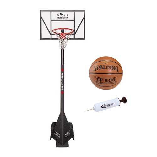 Basketballkorb Hudora Competition Pro + Spalding TF-500 + Pump