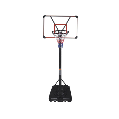 Mobile basketball set LEAN 225-305 cm + Spalding NBA Grip Control Basketball Indoor/Outdoor + Pump