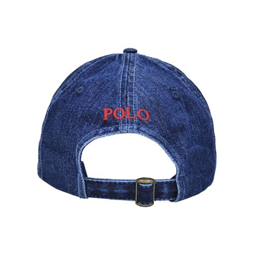 Polo Ralph Lauren Red Denim Baseball Cap - 710674341005