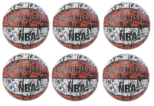 Spalding NBA Graffiti USA x6