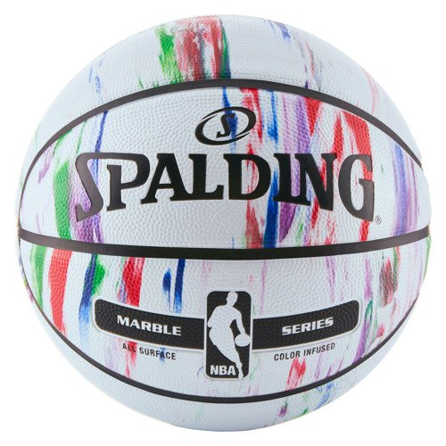 Spalding NBA Marble Series Multikolor Outdoor Basketball