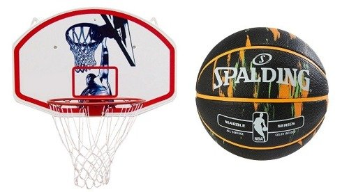 Spalding NBA Marble USA  + Basketball set Spartan