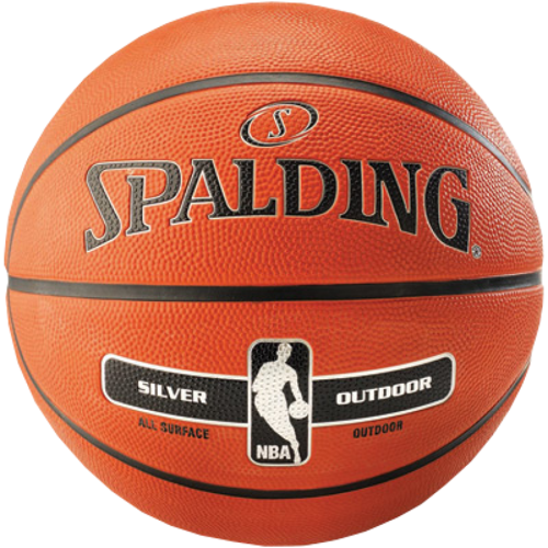 Spalding NBA Silver Basketball Outdoor + Nike Essential Pumpe