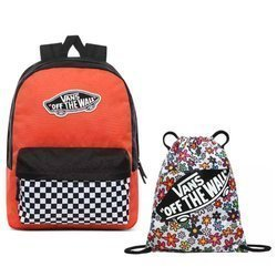 Vans Realm Paprika-Checkerboard Zaino - VN0A3UI6ZKF + Benched Bag