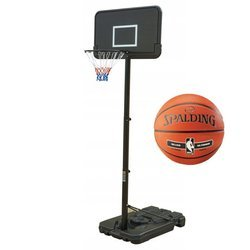 Basketball set Black 305 cm + Spalding basketball