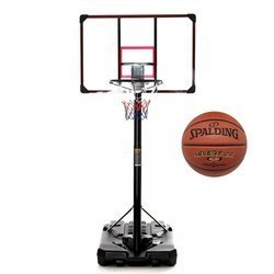 Basketball set DELUX 305 cm + Spalding NBA NeverFlat