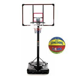 Basketball set DELUX 305 cm + Spalding NBA junior Basketball