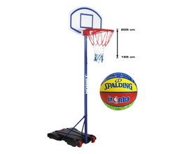 Basketball set Hudora Hornet 205 + Spalding NBA Junior