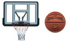 Basketball set Spartan Wall Mounted Backboard + Spalding Basketball